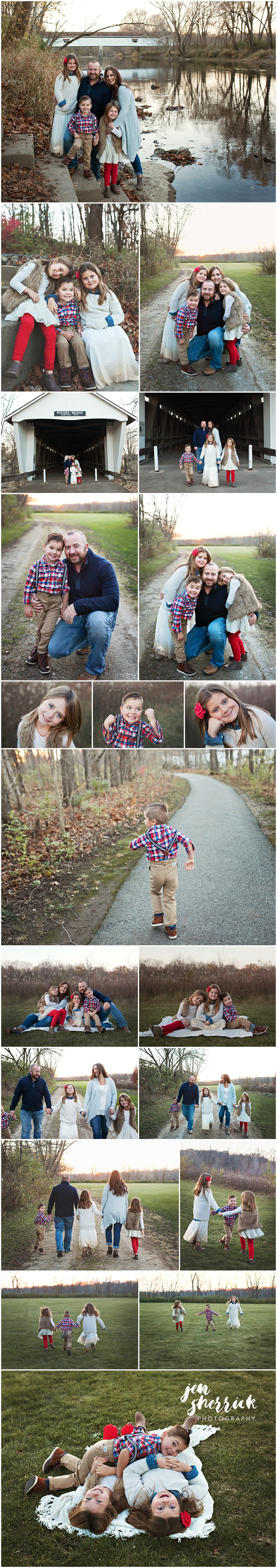 collage of family in urban setting