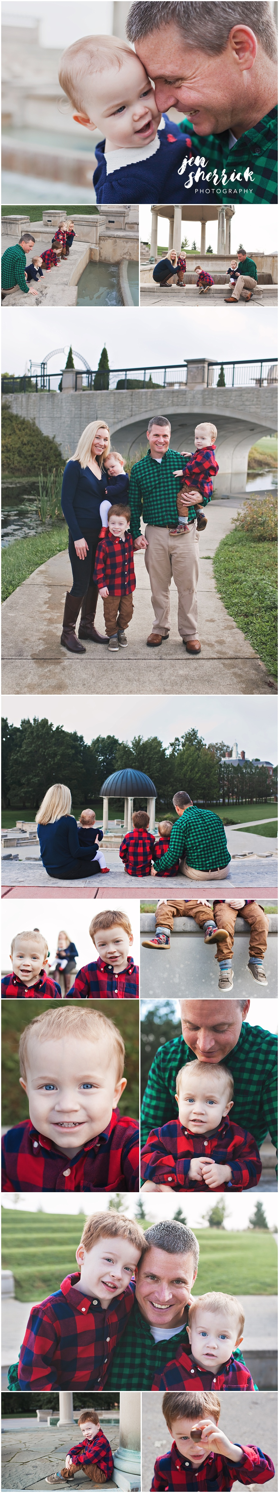 collage of fall family photos continued